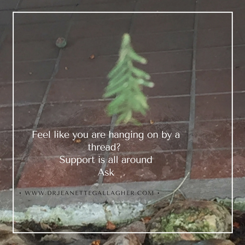 Feel like you are hanging on by a thread_ Support is all around Ask